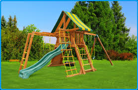 Backyard Jungle Gym by Supremescape Swing Set 3 Supremescape Playset 3 Eastern Jungle