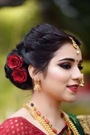 marriage bridal hairstyle best 25 marathi bride ideas on pinterest nauvari saree
