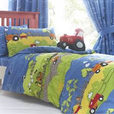toddler bed set with tractors farm tractor duvet set product