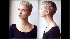 cropped hairstyles with wisps in the nape of the neck for women ladies short haircut shaved nape youtube