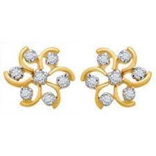 real gold earrings avsar real gold and diamond fashion nakshatra earring ave023