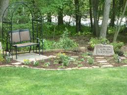 Memorial Garden Ideas Our Memorial Garden For Our Featuring A Custom Made