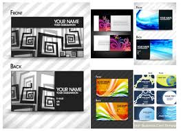 abstract business card templates vector free stock vector art