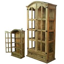rustic wood display cabinet wood display cabinet old charm display cabinet traditional wooden