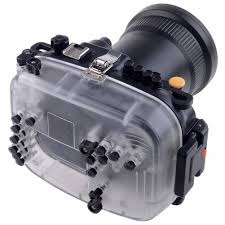 amazon com meikon 40m 190ft waterproof underwater camera housing