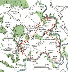 hurst map maybe middle earth hurst green and three rivers walks the aa