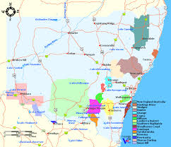 map of new south wales new south wales wine regions