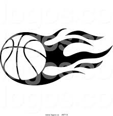royalty free clip art vector logo of a black and white flaming