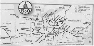 Map Of Northwest Ohio by B U0026o