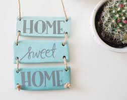 home sweet home decoration clay home decor etsy