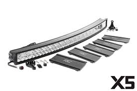 curved led light bar 52 in curved cree led light bar x5 series 76254 rough country