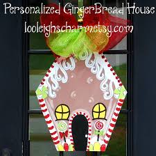 christmas door hanger gingerbread house decor christmas