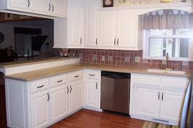 Kitchen Cabinets Without Handles Kitchen Paint Colors With Antique White Cabinets Painting Cost