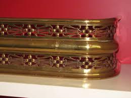 antique english pierced brass geo iii fireplace fender