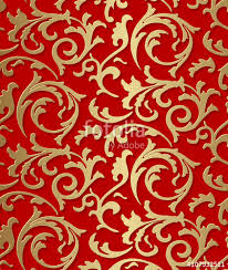 damask wrapping paper vector baroque seamless damask golden floral texture luxury