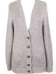 silver cardigan sweater j crew grey metallic silver button cardigan sweater size l