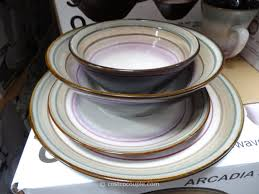 Dining Steel Plate Set Sango Contempo Dinnerware Set In Cream 16 Piece 4627 16w The