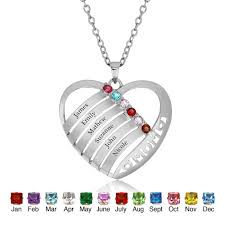 personalized necklaces for women personalized heart shape 925 sterling silver necklaces name