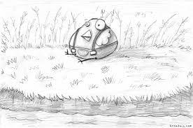 birdie in the grass sketch breadwig
