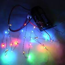 26 working color led christmas lights battery operated miniatures