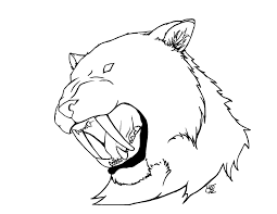 saber tooth tiger pictures to color free download drawing art