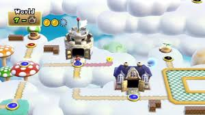 Super Mario World Level Maps by New Super Mario Bros Wii World 7 Part 3 Of 3 Youtube