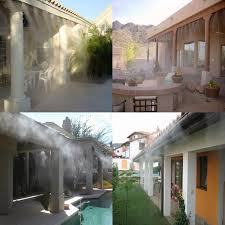 outdoor garden patio misting cooling system 1 4
