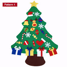 2017 new kids diy felt christmas tree set with ornaments children