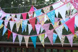 International Bunting Flags Bridal Bunting Custom 80 U0027 Of Fabric Wedding Flag Banner