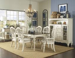 hillsdale pine island 7 pc dining set with wheat back chairs old
