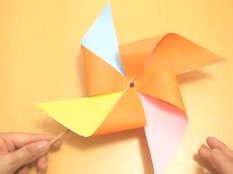 cara membuat origami kincir angin 3 cara untuk membuat kincir angin kertas wikihow