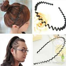 mens headband 2017 fashion mens women unisex black wavy hair hoop band