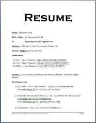 simple curriculum vitae for student simple resume format for students business template