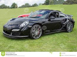 Porsche 911 Black - black porsche 911 turbo side editorial photo image 57330766