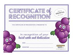 free downloadable certificates for nutrition employee week