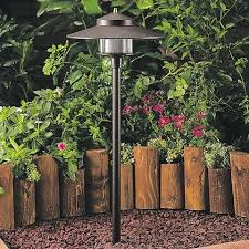 9260 12 volt led aluminum round path light black u2013 yard outlet