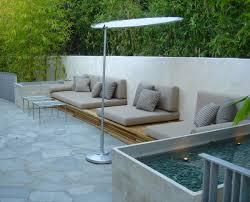 concrete bench cushions seat at pavers patio patio design ideas