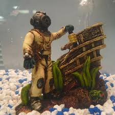 diver exploring shipwreck aquarium ornament 13 deals