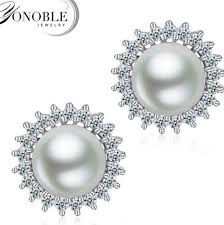 real earrings 2018 100 real freshwater pearl earrings for women pearl