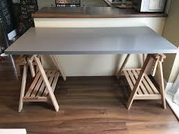 Beech Computer Desk by Nearly New Ikea Finnvard Linnmon Desk Or Table Grey Table Top