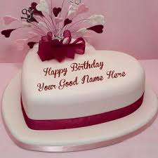 birthday wishes special name write heart shaped cakes pictures