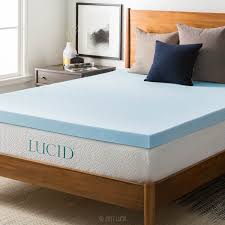 home design classic mattress pad amazon com lucid 3 inch gel memory foam mattress topper queen