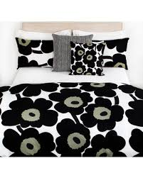 Marimekko Duvet Amazing Deal On Marimekko Unikko Duvet Cover White Black