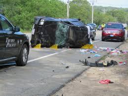 video two injured in truro rollover crash
