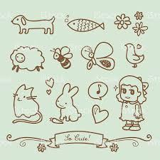 cute little doodle drawings stock vector art 165069393 istock