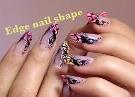 abstract tattoo inspired nail art video tutorial edge nails youtube