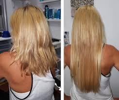 hot heads extensions before after aqua blue salon