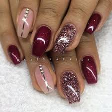must try fall nail designs and ideas 2017 pink glitter nails