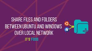 ubuntu network install tutorial share folders on local network between ubuntu and windows