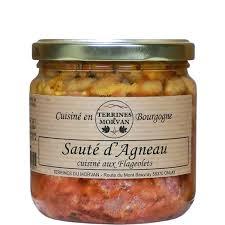 cuisiner les flageolets sauté d agneau cuisiné aux flageolets 400g saveurs de bourgogne